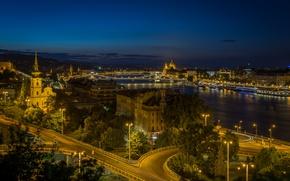 Picture night, lights, backlight, Hungary, Budapest, Budapest