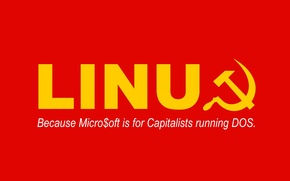 Wallpaper Communism, Linux, Red