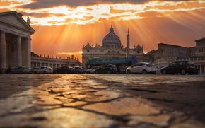 Picture sunset, Rome, Sunset