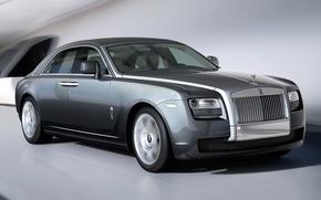 Picture Road, Rolls-Royce, Machine, Grey, Movement, Machine, Car, Ghost, Car, Cars, Grey, Cars, Road, GOST, Rolls …