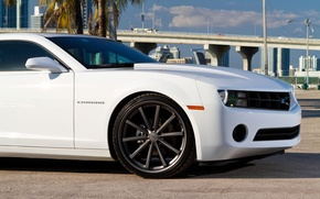 Picture machine, auto, bridge, tuning, Chevrolet, drives, USA, vossen, Miami, miami, chevrolet camaro