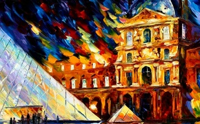 Picture color, oil, Picture, The Louvre