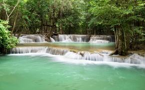 Picture forest, trees, tropics, stream, waterfall, Thailand, cascade