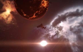 Picture space, nebula, EVE Online