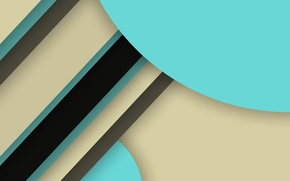 Picture line, blue, black, geometry, material