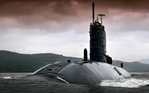 Picture boat, underwater, atomic, HMS TORBAY, Trafalgar -class, (S90)