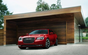Picture Chrysler, red, 300