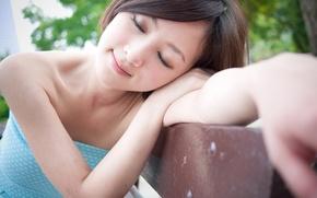 Picture girl, model, mood, face, sleep, korea, blackhead, Marco