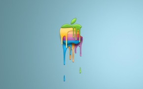 Wallpaper minimalism, apple, logo, paint