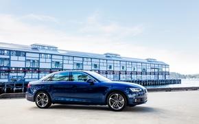 Picture Audi, sedan, blue, 2016