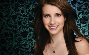 Picture girl, smile, actress, brunette, beautiful, Emma Roberts, Emma Roberts