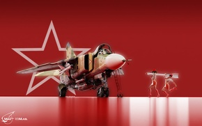 Picture star, rocket, USSR, MiG 23, pierce, mig 23