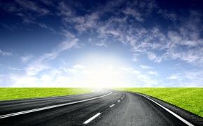 Picture road, light, horizon, 153