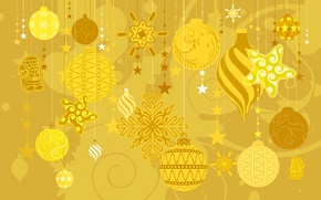 Wallpaper winter, decoration, toys, vector, texture, New Year, Christmas, postcard