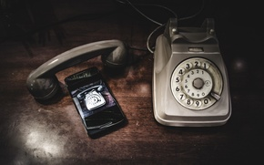 Picture macro, background, phones