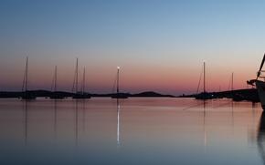 Picture evening, yachts, croatia, kornati