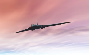 Wallpaper the sky, rendering, the plane, bomber