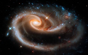 Picture constellation, Andromeda, UGC 1810, Arp 273