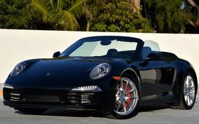 Wallpaper 911, Porsche, convertible, 2012, Porsche, Cabriolet, US-spec, 991, Carrera, Carrera 4S