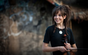 Picture violin, beauty, violin, Lindsey Stirling, Lindsey Stirling, violinist