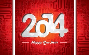 Picture holiday, Christmas, New year, year, red background, 2014