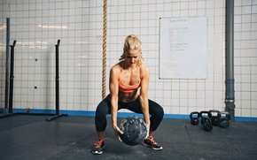 Picture fitness, training, crossfit, weightlifting, training ball