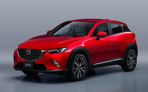 Picture Mazda, Red, Crossover, 2016, CX-3