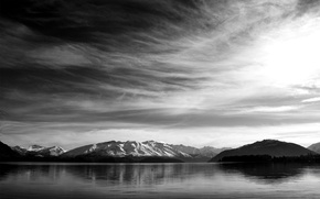 Wallpaper lakes, mountains, mountains, the sky, rivers, river, landscape
