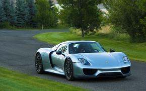 Picture Porsche, road, Spyder, 918