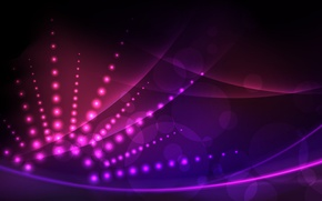 Picture purple, rays, circles, pink