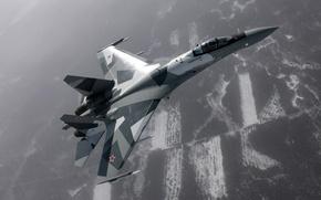 Wallpaper the plane, fighter, Su-35
