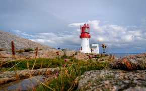 Picture coast, lighthouse, Norway, Norway, Have Lindesnes, Lindesnes