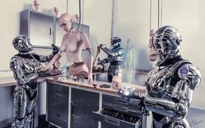 Picture future, science fiction, robots, conceptual, cyborgs