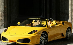 Picture F430, Ferrari, supercar, yellow, Spider