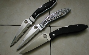 Wallpaper edged weapons, police, knife