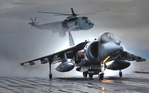 Picture aircraft, fighter, jumpjet, Harrier, plane