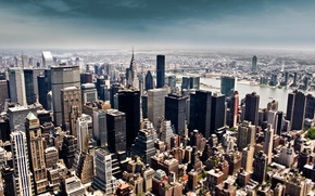 Wallpaper new york, megapolis, skyscrapers, the sky, New York, building, height