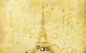 Picture rays, circles, Eiffel tower, Paris
