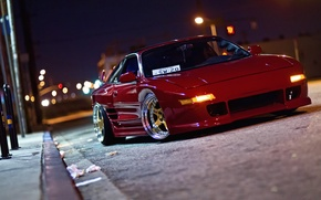 Picture road, night, lights, street, road, toyota, night, Toyota, mr2