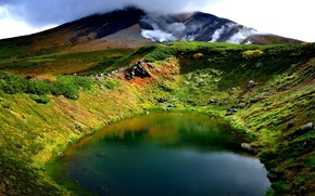 Picture landscape, nature, lake, mountain, China