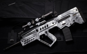 Picture style, weapons, background, machine, optics, rifle, assault, Tavor, TAR-21