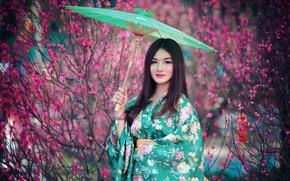 Wallpaper girl, background, Asian