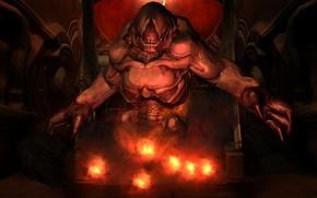 Picture monster, game, DooM III, Doom 3, Resurrection of Evil, Bright time