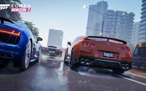 Picture Audi, McLaren, Nissan, GT-R, Game, Forza Horizon 3, R8