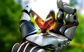 Picture butterfly, mechanism, robot, hand