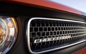 Wallpaper challenger, radiator, grille, dodge, grill