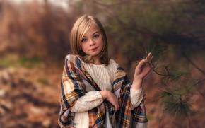 Picture sprig, girl, Lorna Oxenham, mild winter