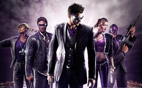 Picture girl, weapons, men, saints row, the third