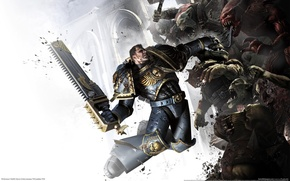 Wallpaper space marine, warhammer 40k, captain Titus