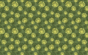 Picture green, pattern, flowers